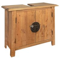 vidaXL Bathroom Vanity Cabinet Solid Recycled Pinewood 70x32x63 cm