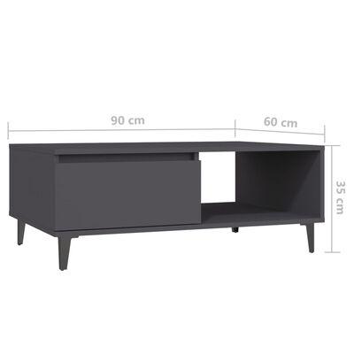 vidaXL Coffee Table Grey 90x60x35 cm Chipboard