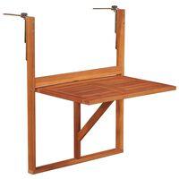 vidaXL Hanging Balcony Table 64.5x44x80 cm Solid Acacia Wood