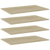 vidaXL Bookshelf Boards 4 pcs Sonoma Oak 80x50x1.5 cm Chipboard