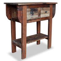 vidaXL Console Table Solid Reclaimed Wood 80x35x80 cm