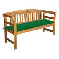 vidaXL Garden Bench with Cushion 157 cm Solid Acacia Wood