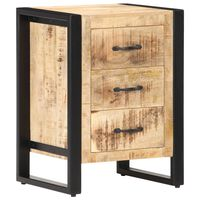 vidaXL Bedside Cabinet 40x35x55 cm Solid Mango Wood