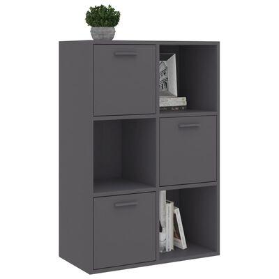 vidaXL Storage Cabinet Grey 60x29.5x90 cm Chipboard