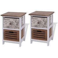 vidaXL Bedside Cabinets 2 pcs Wood