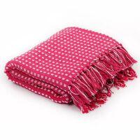 vidaXL Throw Cotton Squares 125x150 cm Pink