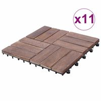 vidaXL Decking Tiles 22 pcs 30x30 cm Solid Reclaimed Wood