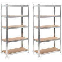 Storage Shelf Silver 2 pcs