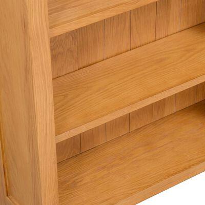vidaXL 3-Tier Bookcase 70x22,5x82 cm Solid Oak Wood