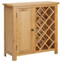 vidaXL Wine Cabinet for 11 Bottles 80x32x80 cm Solid Oak Wood
