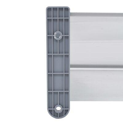 vidaXL Door Canopy Grey 240x100 cm PC