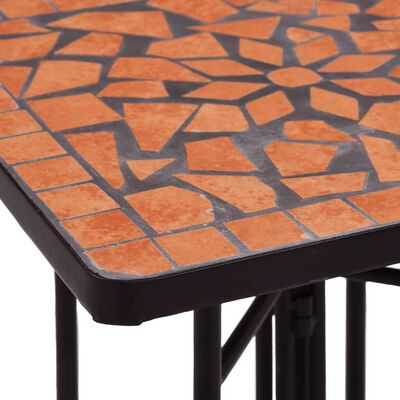 vidaXL Mosaic Side Table Terracotta Ceramic