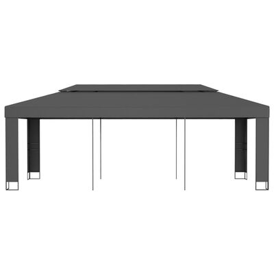vidaXL Gazebo with Double Roof 3x6 m Anthracite