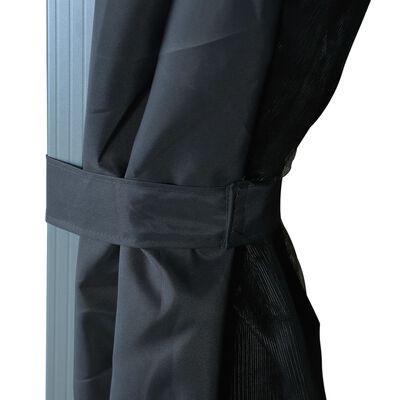 vidaXL Gazebo with Curtain 300x300 cm Anthracite Aluminium