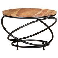 vidaXL Coffee Table 60x60x40 cm Solid Acacia Wood