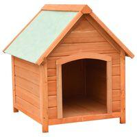 vidaXL Dog House Solid Pine & Fir Wood 72x85x82 cm