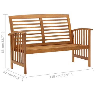 vidaXL Garden Bench 119 cm Solid Acacia Wood