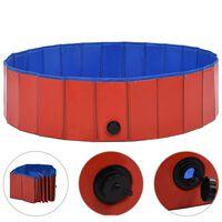 vidaXL Foldable Dog Swimming Pool Red 120x30 cm PVC