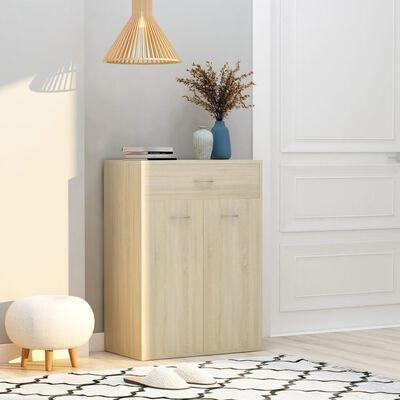 vidaXL Shoe Cabinet Sonoma Oak 60x35x84 cm Chipboard