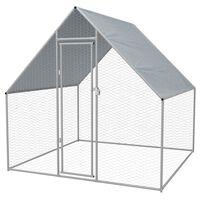 vidaXL Outdoor Chicken Cage Galvanised Steel 2x2x1.92 m