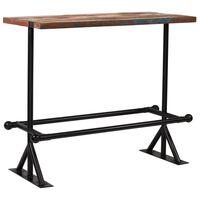 vidaXL Bar Table Solid Reclaimed Wood Multicolour 120x60x107 cm
