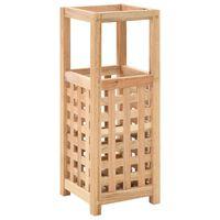 vidaXL Umbrella Stand Solid Walnut Wood 18x18x50 cm