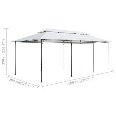 vidaXL Gazebo with Curtains 600x298x270 cm White 180g/m²