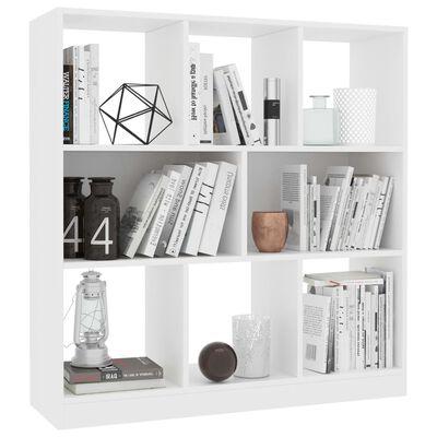 vidaXL Book Cabinet White 97.5x29.5x100 cm Chipboard, White