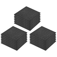 vidaXL Fall Protection Tiles 18 pcs Rubber 50x50x3 cm Black