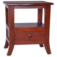 vidaXL Bedside Cabinet Classical Brown Solid Mahogany Wood