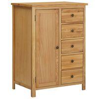 vidaXL Wardrobe 76x52x105 cm Solid Oak Wood