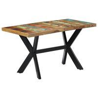 vidaXL Dining Table 140x70x75 cm Solid Reclaimed Wood
