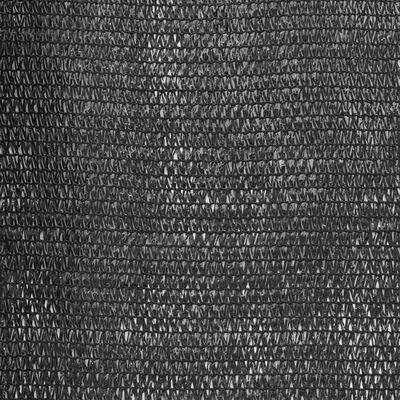 vidaXL Privacy Net HDPE 1.5x10 m Black
