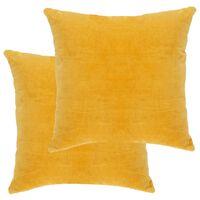 vidaXL Cushions Cotton Velvet 2 pcs 45x45 cm Yellow