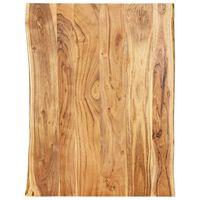 vidaXL Table Top Solid Acacia Wood 80x(50-60)x2.5 cm