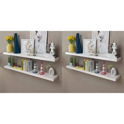 vidaXL Wall Shelves 4 pcs White 120 cm
