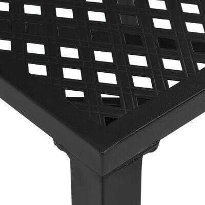 vidaXL Garden Table Black 80x80x72 cm Steel