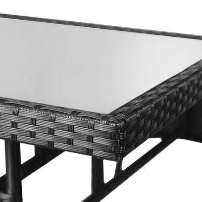 vidaXL Garden Table Black 80x80x74 cm Poly Rattan