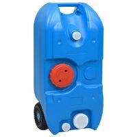 vidaXL Wheeled Water Tank for Camping 40 L Blue
