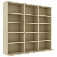 vidaXL CD Cabinet Sonoma Oak 102x23x89,5 cm Chipboard