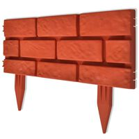 vidaXL Lawn Divider with Brick Design 11 pcs