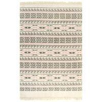 vidaXL Kilim Rug Cotton 120x180 cm with Pattern Grey/Pink