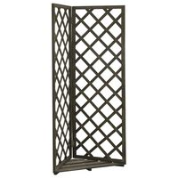 vidaXL Corner Trellis Grey 50x50x145 cm Solid Firwood