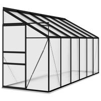 vidaXL Greenhouse Anthracite Aluminium 7.77 m³