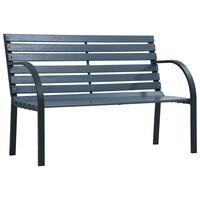 vidaXL Garden Bench 120 cm Grey Wood