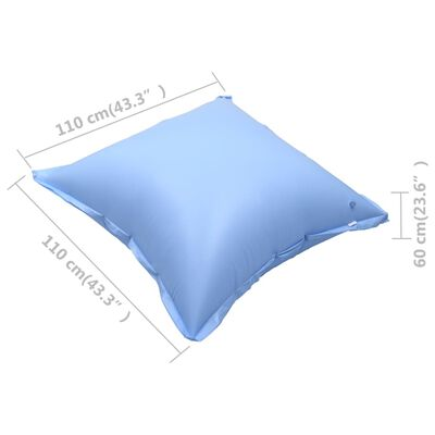 vidaXL Inflatable Winter Air Pillows for Above-Ground Pool Cover 10 pcs PVC