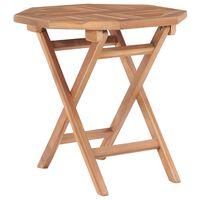 vidaXL Folding Garden Table 45x45x45 cm Solid Teak Wood