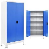 vidaXL Office Cabinet Metal 90x40x180 cm Grey and Blue