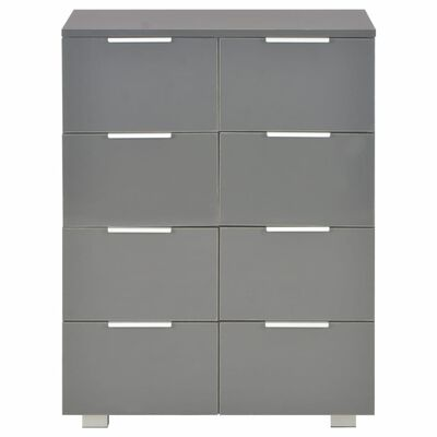 vidaXL Sideboard High Gloss Grey 60x35x76 cm Chipboard