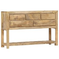 vidaXL Sideboard 120x30x75 cm Solid Mango Wood